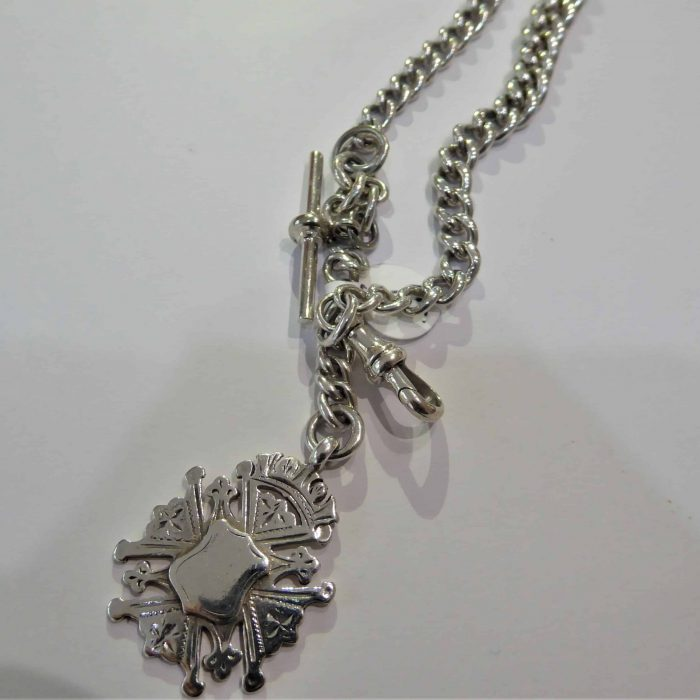 old silver watch chain