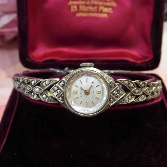 vintage silver and marcasite watch