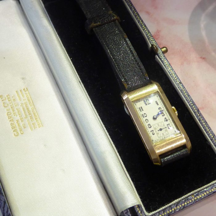 1930s 9ct gold watch with 9ct buckle